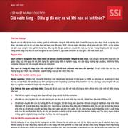 SSI Research: Ngành Logistics - Giá cước tăng, điều gì đã xảy ra và khi nào sẽ kết thúc?