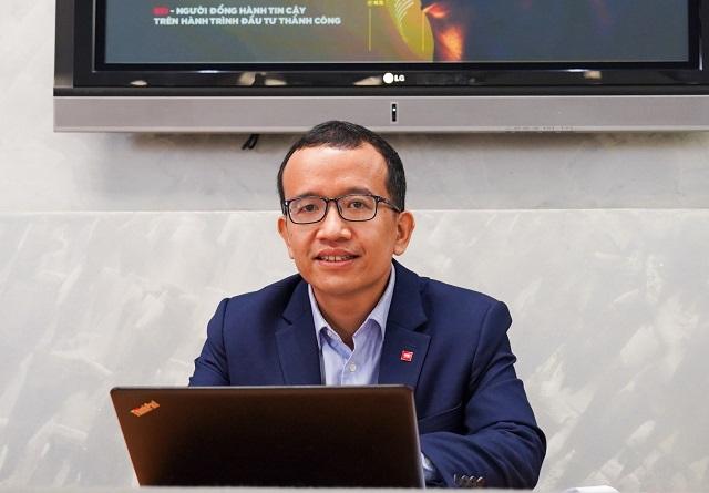 Phó Giám đốc SSI Research, ông Phạm Lưu Hưng tại buổi livestream. Ảnh: SSI.