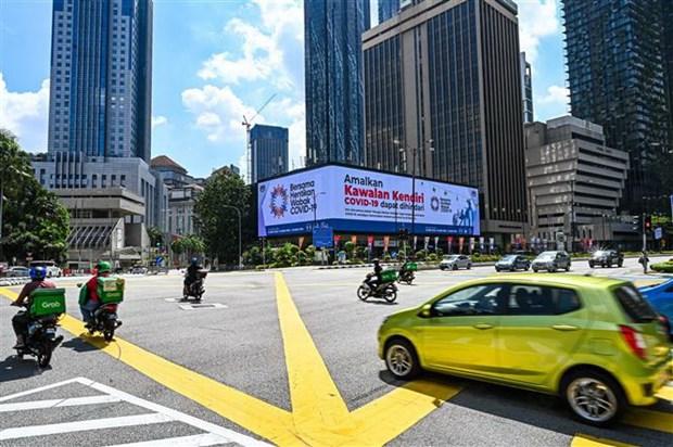 Cảnh vắng vẻ trên đường phố thủ đô Kuala Lumpur, Malaysia khi lệnh phong tỏa toàn quốc được áp đặt nhằm phòng dịch Covid-19 lây lan. (Ảnh: THX/TTXVN)