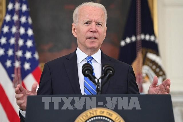 Tổng thống Mỹ Joe Biden phát biểu tại Washington, DC ngày 19/7/2021. Ảnh: AFP/TTXVN