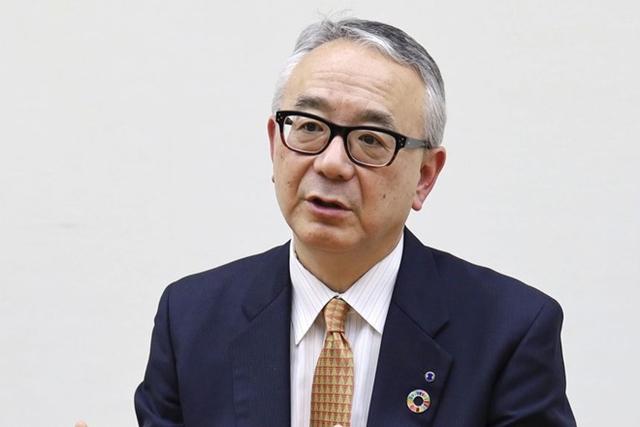 Isao Teshirogi, giám đốc điều hành của Shionogi. Ảnh: Kyodo News.