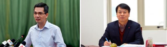 Hai tân Thứ trưởng Bộ Tài chính Võ Thành Hưng (trái) và Nguyễn Đức Chi (phải).