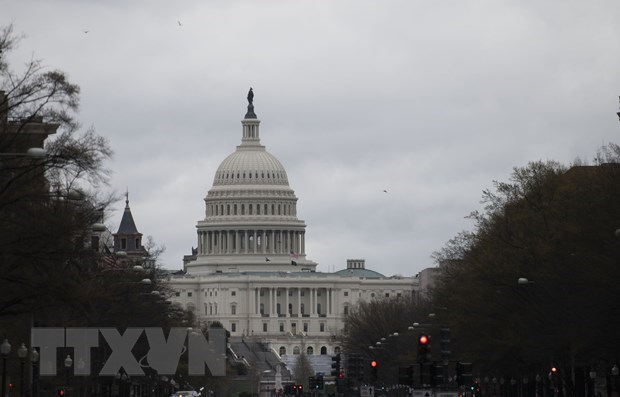 Tòa nhà Quốc hội Mỹ ở Washington, DC. (Ảnh: THX/TTXVN)