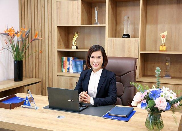 Bà Bùi Thị Thanh Hương,Tân Chủ Tịch HĐQT NCB. Ảnh: NCB.