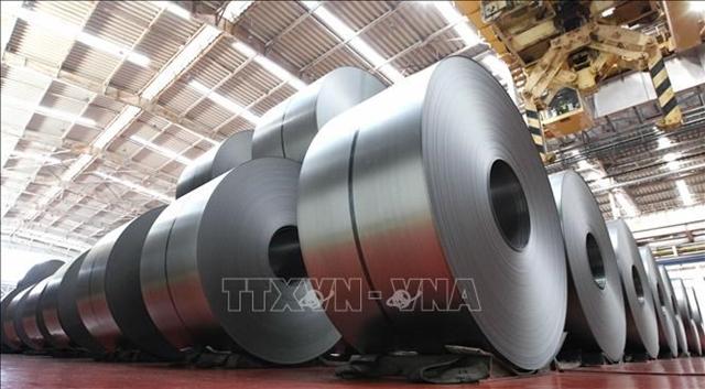 Sản phẩm thép cuộn do Hyundai Steel sản xuất. Ảnh: Yonhap/TTXVN