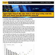 MBKE: Ngành ngân hàng 6 tháng đầu năm - Khối tư nhân tăng trưởng vượt trội, khối quốc doanh chưa đạt kết quả như mong đợi