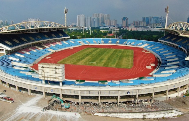 Sân vận động Mỹ Đình được phép tiếp tục thi công trong giai đoạn giãn cách xã hội.