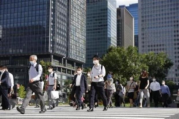 Người dân đeo khẩu trang phòng dịch COVID-19 tại Tokyo, Nhật Bản, ngày 2/8/2021. (Ảnh: Kyodo/ TTXVN)