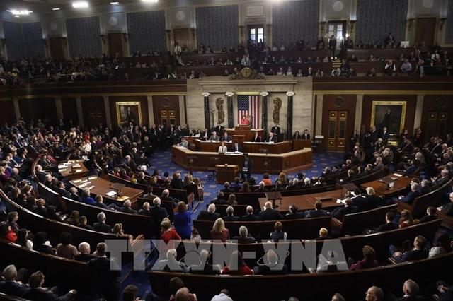 Toàn cảnh phiên họp Quốc hội Mỹ tại Washington, DC. Ảnh: AFP/ TTXVN