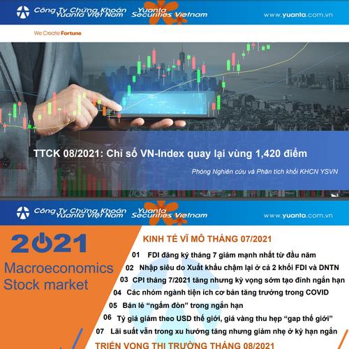 YSVN: Thị trường chứng khoán tháng 8 - VN-Index quay lại vùng 1.420 điểm