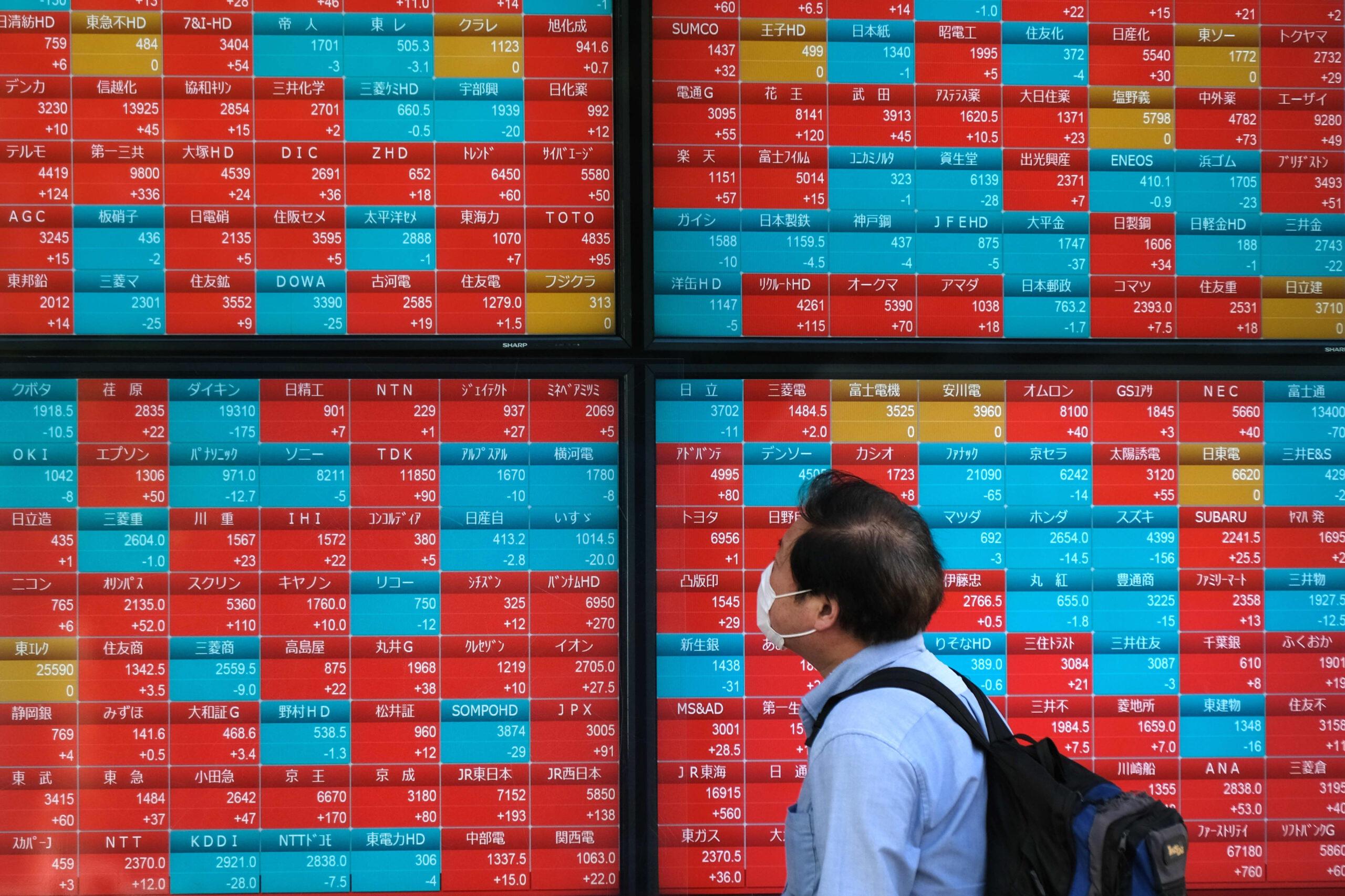 Chứng khoán châu Á trái chiều, nhà đầu tư lo ngại Covid-19