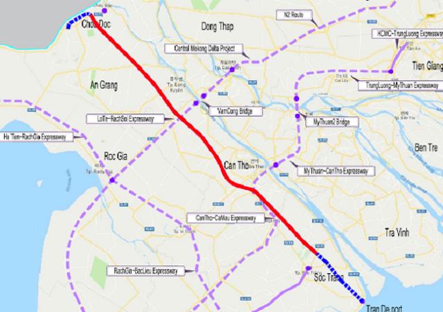 Đề xuất đầu tư hơn 47.400 tỷ đồng làm cao tốc từ An Giang đi Sóc Trăng
