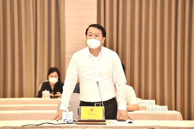 Thứ trưởng Bộ Tài chính Nguyễn Đức Chi tại cuộc họp báo Chính phủ- Ảnh:VGP/Nhật Bắc.