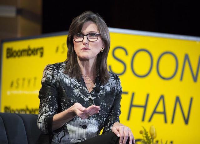Nhà quản lý quỹ Cathie Wood.