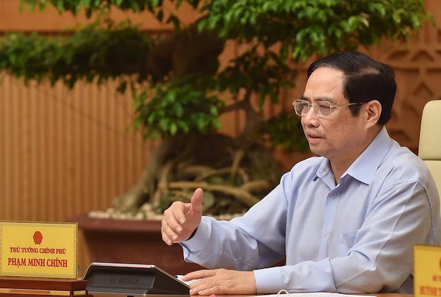 """Thủ tướng Phạm Minh Chính  nhấn mạnh """"phải bàn và làm bằng được"""" việc sản xuất vaccine trong nước"""