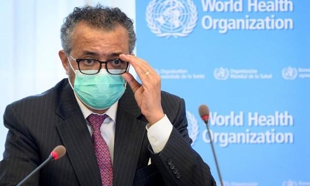 Tổng giám đốc WHO Tedros Adhanom Ghebreyesus tại cuộc họp báo ở Geneva, Thụy Sĩ hồi tháng 5. Ảnh: Reuters.
