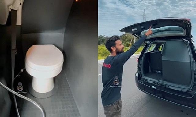 Chiếc Toyota Fortuner được lắp đặt cả nhà vệ sinh