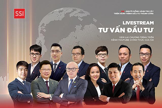 Chuỗi chương trình livestream tư vấn đầu tư do SSI tổ chức quy tụ nhiều diễn giả, lãnh đạo các doanh nghiệp đầu ngành. Ảnh: SSI