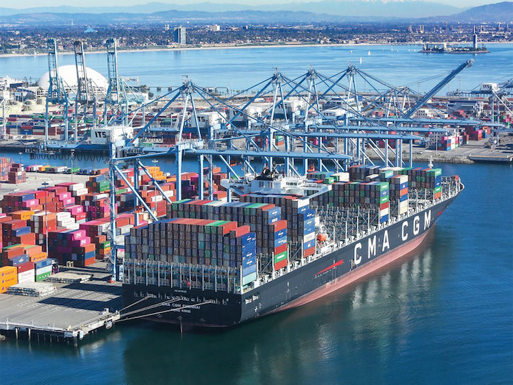 Cảng tàu container Bờ Tây Mỹ ngày càng tắc nghẽn