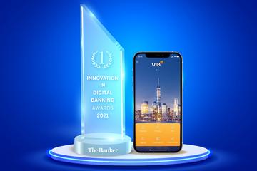 VIB nhận giải 'Đổi mới sáng tạo trong lĩnh vực Ngân hàng số năm 2021'