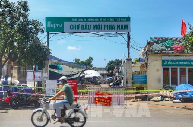 Chợ đầu mối phía Nam Hà Nội sẽ mở cửa trở lại từ 20/8