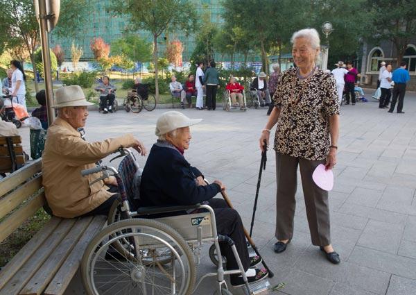 Trung Quốc đang đối mặt với một cuộc khủng hoảng hưu trí cận kề trong bối cảnh tốc độ già hóa dân số gia tăng. Ảnh: China Daily.