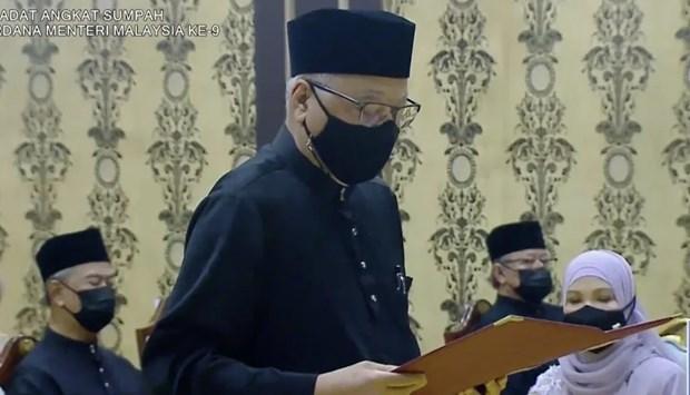 Ông Ismail Sabri Yaakob tuyên thệ nhậm chức Thủ tướng Malaysia. (Nguồn: newzcap.com)