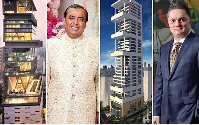 'Dãy nhà tỷ phú' của các ông trùm giàu có ở Ấn Độ