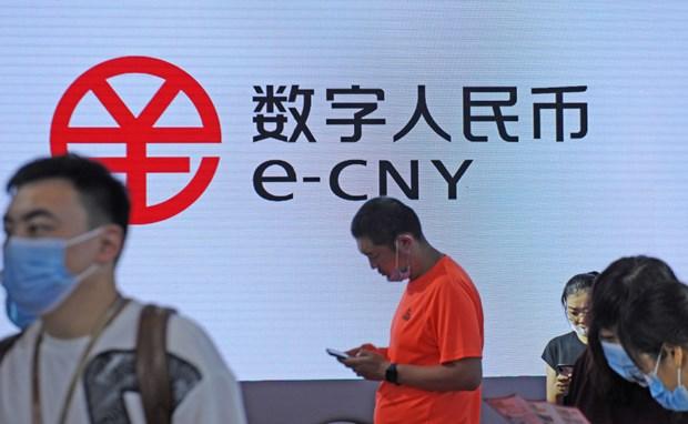 Đồng e-CNY được quảng bá tại một hội chợ ở Đại Liên, tỉnh Liêu Ninh (Trung Quốc). Ảnh: China Daily.