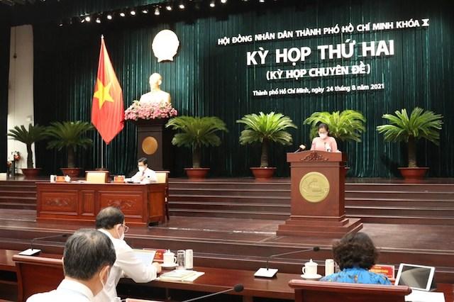 Sáng 24/8, HĐND TPHCM tổ chức kỳ họp thứ hai (kỳ họp chuyên đề) HĐND TPHCM khoá X nhiệm kỳ 2021-2026.