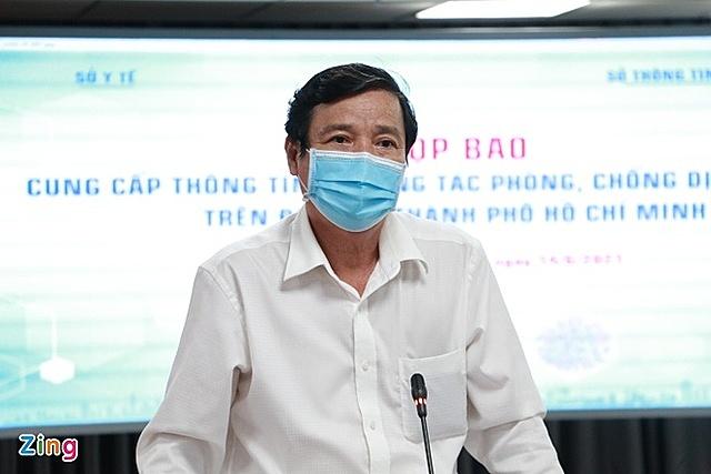 Phó giám đốc Sở Y tế TP HCM Nguyễn Hữu Hưng. Ảnh: Thu Hằng.