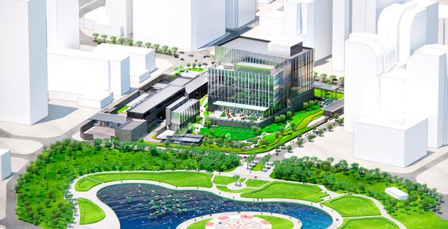 Mô hình 3D khu phức hợpĐại sứ quán Mỹ mới trị giá 1,2 tỷ USD.