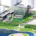 """<p> Thiết kế tòa nhà được lấy cảm hứng từ vịnh Hạ Long. Theo Đại sứ quán Mỹ, kiến trúc này thể hiện """"cách tiếp cận hướng về tương lai, năng động, thích ứng và minh bạch trong chính sách ngoại giao của Mỹ"""".</p>"""