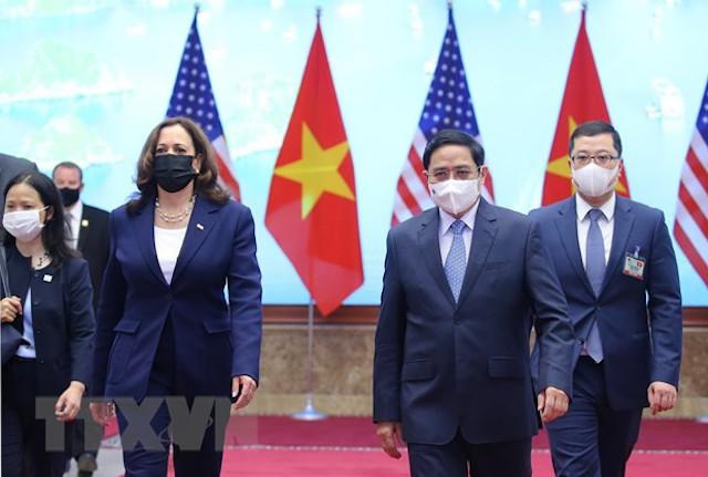 Thủ tướng Phạm Minh Chính và Phó Tổng thống Hoa Kỳ Kamala Harris.