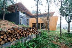 Biệt thự gỗ ấm cúng giữa rừng thông
