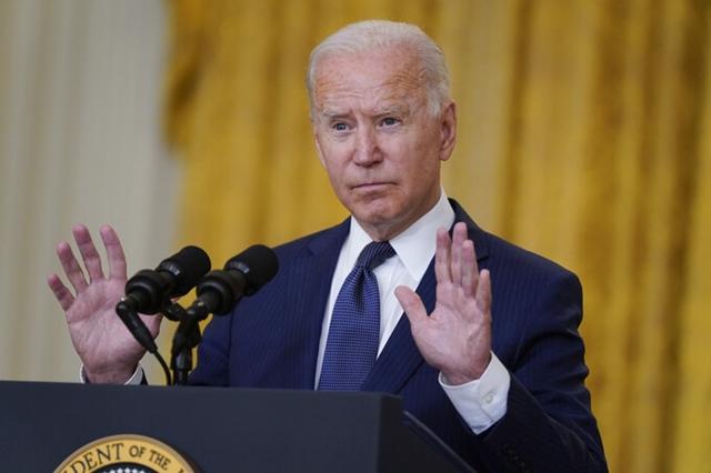 Tổng thống Joe Biden tại Nhà Trắng ở thủ đô Washington hôm 26/8. Ảnh: AP.