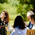 """<p class=""""Normal""""> Kể từ khi tiếp quản nhà máy rượu vang, Triệu Vy, vẫn giữ nguyên toàn bộ các nhân viên cũ, chỉ mời thêm một số chuyên gia có kinh nghiệm sản xuất ra những thùng rượu vang chất lừ. Nữ diễn viên từng làm việc cùng chuyên gia đứng đầu thế giới về sản xuất rượu nho Jean-Claude Berroue. Ảnh: <em>zhaoweiofficial / Instagram</em></p>"""
