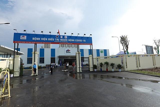 Bệnh viện điều trị bệnh nhân nhiễm Covid-19 tại Hà Nội. Ảnh: TCB