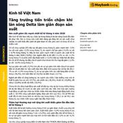 MBKE: Kinh tế Việt Nam - Tăng trưởng tiến triển chậm khi làn sóng Delta làm gián đoạn sản xuất