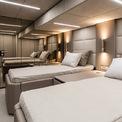 """<p> Great White có diện tích gần 372 m2 với nội thất tinh tế, hiện đại. Nadal đã chọn cách bố trí 4 cabin rộng rãi với dãy phòng dành riêng cho chủ sở hữu ở phía bên phải.<span style=""""color:rgb(0,0,0);"""">Ảnh:</span><em><span style=""""color:rgb(0,0,0);"""">Sunreef</span></em></p>"""