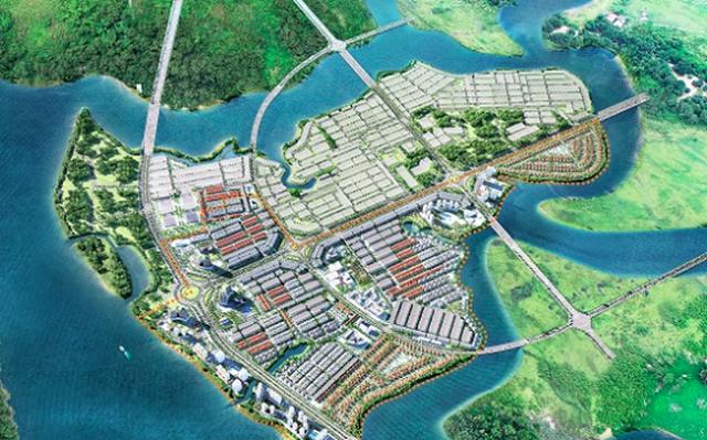 Phối cảnh dự án Waterfront City.Ảnh: Nam Long