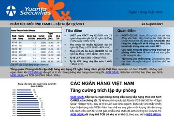 YSVN: Ngân hàng Việt Nam xếp hạng quý II theo mô hình Camel - Tăng cường trích lập dự phòng