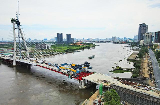 Cầu Thủ Thiêm 2 đã nối TP Thủ Đức qua quận 1. Ảnh: Công ty cổ phần đầu tư địa ốc Đại Quang Minh.