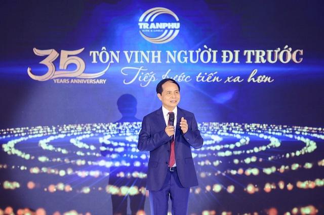 Tổng Giám đốc công ty cổ phần Cơ điện Trần Phú – Đặng Quốc Chính . Ảnh: Trần Phú Cable