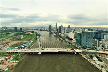 Cận cảnh cầu Thủ Thiêm 2 nối đôi bờ sông Sài Gòn