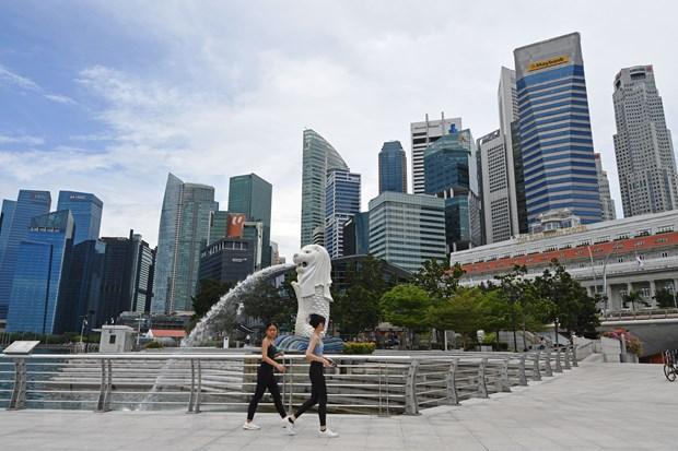 Công viên Merlion ở Singapore, ngày 11/8/2021. (Ảnh: THX/TTXVN)