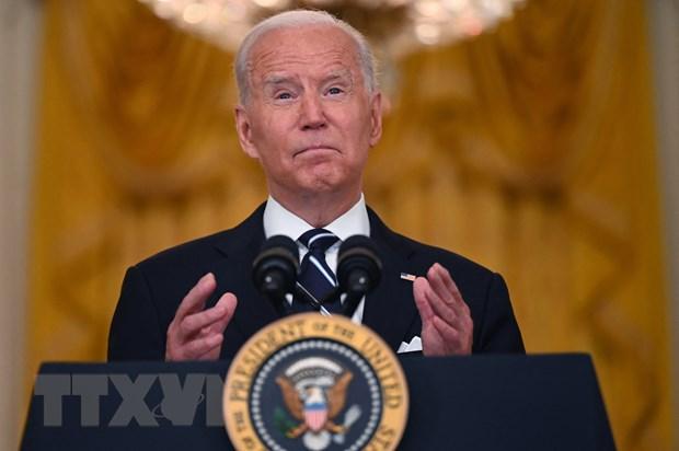 Tổng thống Mỹ Joe Biden phát biểu tại Nhà Trắng ngày 18/8/2021. (Ảnh: AFP/TTXVN)