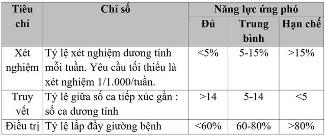 Phân cấp mức độ năng lực ứng phó Covid-19. Ảnh: Bộ Y tế Indonesia.