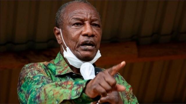 Tổng thống Guinea Alpha Conde. Ảnh: AFP.