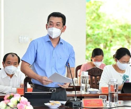 Chủ tịch UBND quận 7 Hoàng Minh Tuấn Anh.